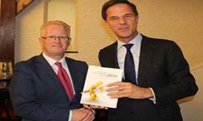 Minister-president Rutte en Jan Veuger